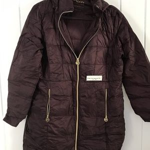 Michael Kors Long Packable Down Puffer
